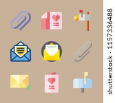 mail vector icons set. wedding... | Shutterstock .eps vector #1157336488