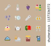 wine vector icons set. toast ... | Shutterstock .eps vector #1157336572