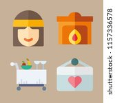 love icons set. hand  woman ... | Shutterstock .eps vector #1157336578