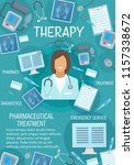 therapy medicine banner for... | Shutterstock .eps vector #1157338672
