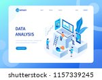 data analysis concept with... | Shutterstock .eps vector #1157339245
