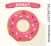 vector icon of a sweet donut in ... | Shutterstock .eps vector #1157347762