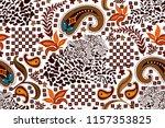 ethnic paisley pattern. safari... | Shutterstock .eps vector #1157353825