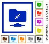 ftp compression flat color... | Shutterstock .eps vector #1157355175