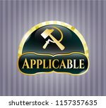 gold badge or emblem with... | Shutterstock .eps vector #1157357635