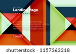 square shape geometric abstract ... | Shutterstock .eps vector #1157363218