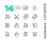 sewing workshop   set of line... | Shutterstock .eps vector #1157365525