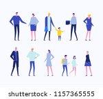 children and adults   flat... | Shutterstock . vector #1157365555