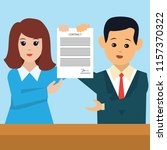 businessman and businesswoman... | Shutterstock .eps vector #1157370322