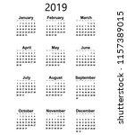 great new wall calendar 2019....   Shutterstock .eps vector #1157389015