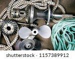 boat propeller speed boat made... | Shutterstock . vector #1157389912