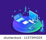 coding and programming concept  ... | Shutterstock .eps vector #1157394205