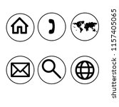 web icon set in circle | Shutterstock . vector #1157405065