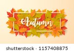 autumn background with leaves.... | Shutterstock .eps vector #1157408875
