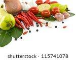 asian ingredients food | Shutterstock . vector #115741078