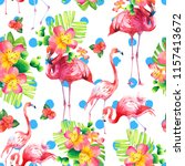 watercolor seamless pattern on... | Shutterstock . vector #1157413672