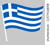 flag of greece waving on the... | Shutterstock .eps vector #1157416858