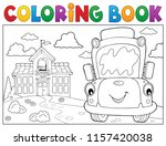 coloring book school bus theme... | Shutterstock .eps vector #1157420038