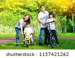 asian family enjoyed outdoor... | Shutterstock . vector #1157421262