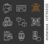 e payment chalk icons set....   Shutterstock .eps vector #1157423152