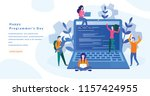 happy programmer's day concept... | Shutterstock .eps vector #1157424955