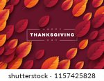 happy thanksgiving holiday... | Shutterstock .eps vector #1157425828
