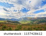 a view of the mountains near... | Shutterstock . vector #1157428612