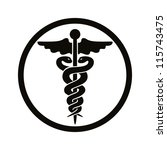 caduceus medical symbol. | Shutterstock .eps vector #115743475
