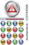 car dashboard icons set | Shutterstock . vector #115743568