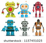 Robot Toys Vector Characters...