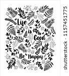 floral vector design for... | Shutterstock .eps vector #1157451775