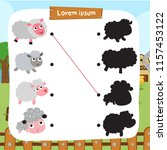 Sheep Matching Game Vector...