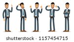 businessman set. character in a ... | Shutterstock .eps vector #1157454715