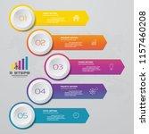 5 steps arrow infographics... | Shutterstock .eps vector #1157460208