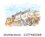 amer fort  amber fort  is a... | Shutterstock .eps vector #1157460268