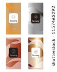 luxury packaging design set... | Shutterstock .eps vector #1157463292