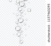 air bubbles set isolated on... | Shutterstock .eps vector #1157463295