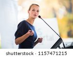 pretty  young business woman... | Shutterstock . vector #1157471215