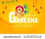 happy ganesh chaturthi design ... | Shutterstock .eps vector #1157472112