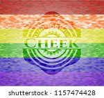 cheek on mosaic background with ... | Shutterstock .eps vector #1157474428