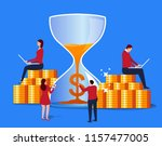 time and wealth | Shutterstock .eps vector #1157477005