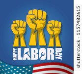 labor day usa vector label or... | Shutterstock .eps vector #1157482615