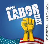 labor day usa vector label or... | Shutterstock .eps vector #1157482648