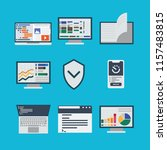 vector icons for workflows for... | Shutterstock .eps vector #1157483815