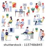 doctors examining patients in...   Shutterstock .eps vector #1157486845