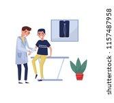 male doctor traumatologist... | Shutterstock .eps vector #1157487958