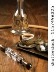 hookah and turkish coffee on...   Shutterstock . vector #1157496325