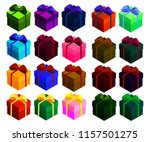 set of bright isometric boxes... | Shutterstock .eps vector #1157501275
