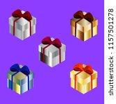 set of metallic isometric boxes ... | Shutterstock .eps vector #1157501278