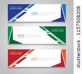 vector abstract design banner... | Shutterstock .eps vector #1157508208